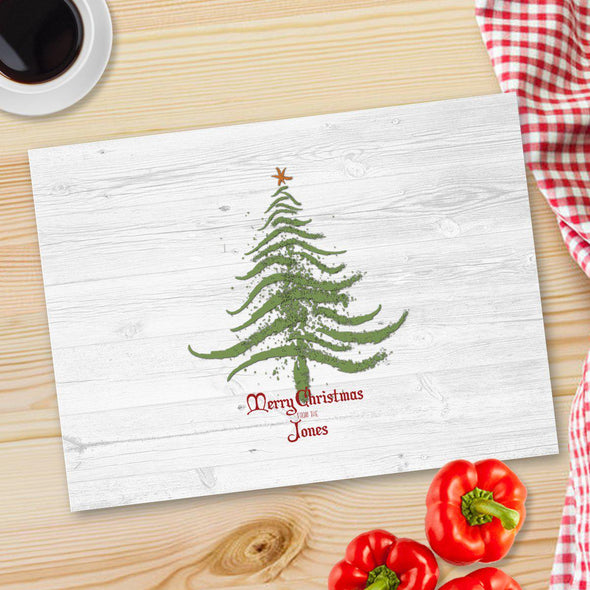Personalized Christmas Glass Cutting Board - 12 designs - CMASTREE - JDS