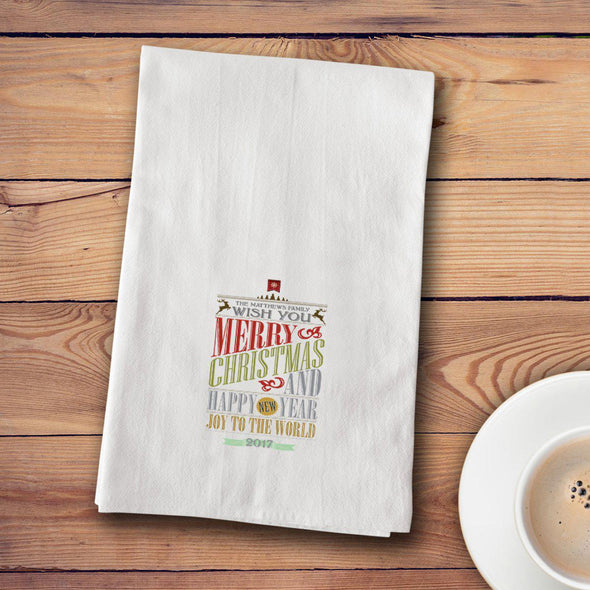 Personalized Christmas Tea Towels - 12 designs - CMASWORDS - JDS
