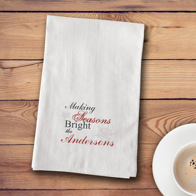 Personalized Christmas Tea Towels - 12 designs - Seasons - JDS
