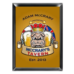 Personalized Traditional Pub Sign - Bulldog -  - Man Cave Gifts - AGiftPersonalized