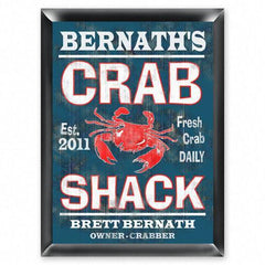 Personalized Traditional Pub Sign - Crab Shack