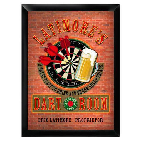 Personalized Traditional Pub Sign - Darts -  - Man Cave Gifts - AGiftPersonalized