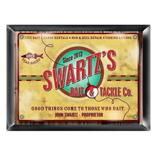 Personalized Traditional Bar Signs - Personalized Pub Signs - Bait & Tackle - JDS