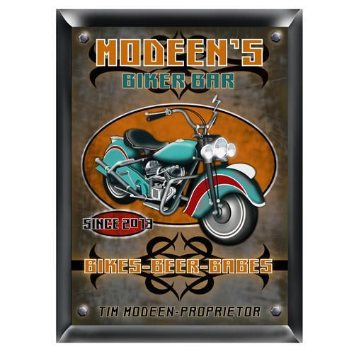 Personalized Traditional Bar Signs - Personalized Pub Signs - Biker - JDS