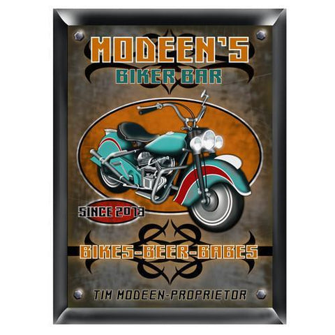 Personalized Traditional Bar Signs - Personalized Pub Signs - Biker
