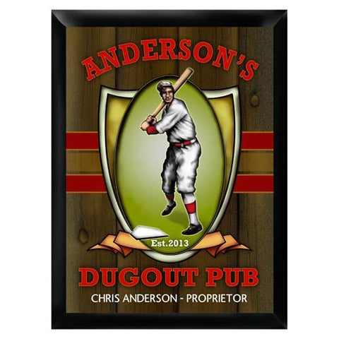 Personalized Traditional Bar Signs - Personalized Pub Signs - Dugout