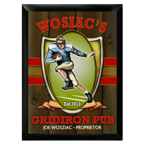 Personalized Traditional Bar Signs - Personalized Pub Signs - Gridiron - JDS