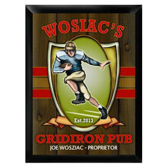 Personalized Traditional Bar Signs - Personalized Pub Signs - Gridiron