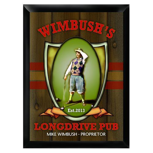 Personalized Traditional Bar Signs - Personalized Pub Signs - LongDrive - JDS