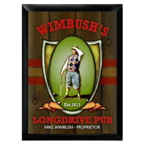 Personalized Traditional Bar Signs - Personalized Pub Signs - LongDrive