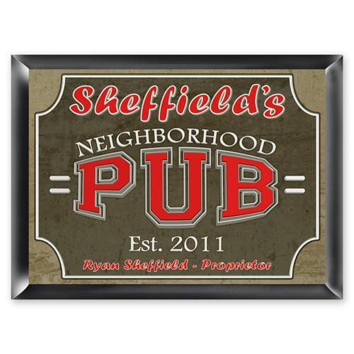 Personalized Traditional Bar Signs - Personalized Pub Signs - Neighborhood Pub - JDS
