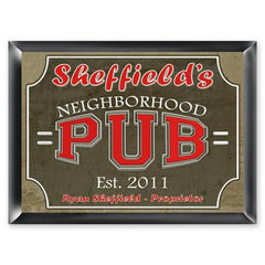Personalized Traditional Bar Signs - Personalized Pub Signs - NeighborhoodPub
