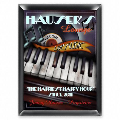 Personalized Traditional Bar Signs - Personalized Pub Signs - Piano Lounge - JDS