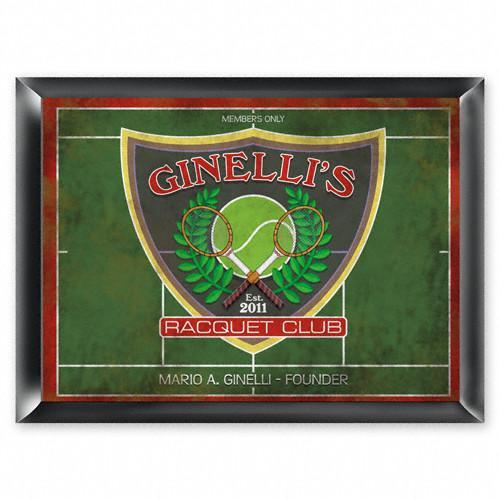 Personalized Traditional Bar Signs - Personalized Pub Signs - RacquetClub - JDS