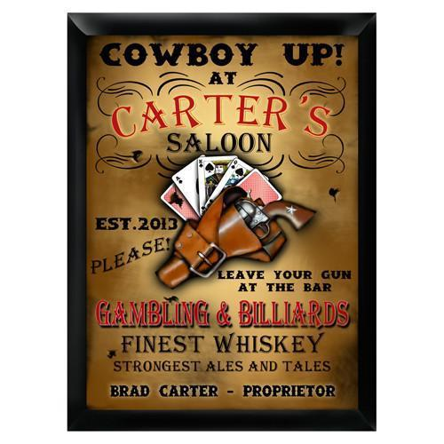 Personalized Traditional Bar Signs - Personalized Pub Signs - Saloon - JDS