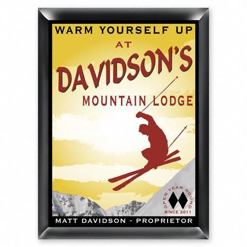 Personalized Traditional Bar Signs - Personalized Pub Signs - Ski Lounge - JDS
