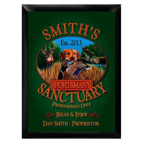 Personalized Traditional Bar Signs - Personalized Pub Signs - Sportsman - JDS