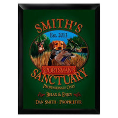 Personalized Traditional Bar Signs - Personalized Pub Signs - Sportsman