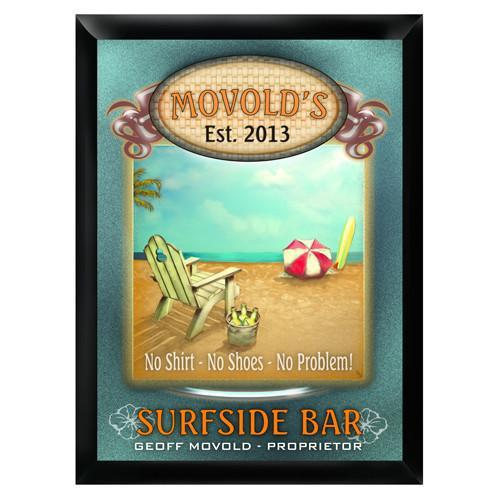 Personalized Traditional Bar Signs - Personalized Pub Signs - Surfside - JDS