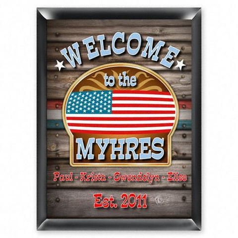 Personalized Traditional Bar Signs - Personalized Pub Signs - Welcome