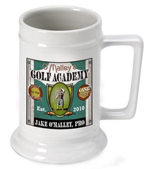 Personalized Ceramic Beer Stein - Golf Academy