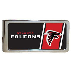 Personalized Money Clip - NFL Team Money Clips - Falcons - Professional Sports Gifts - AGiftPersonalized