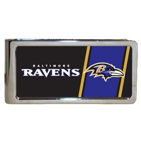 Personalized Money Clip - NFL Team Money Clips - Ravens - Professional Sports Gifts - AGiftPersonalized
