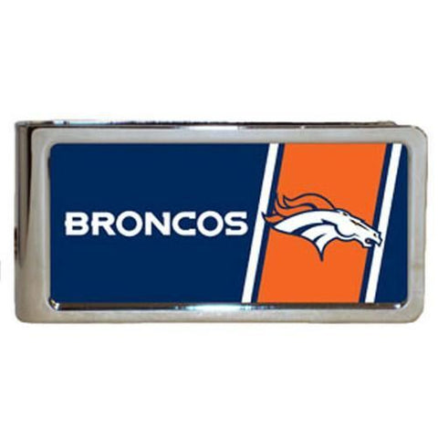 Personalized Money Clip - NFL Team Money Clips - Broncos - Professional Sports Gifts - AGiftPersonalized