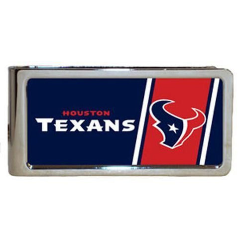 Personalized Money Clip - NFL Team Money Clips - Texans - Professional Sports Gifts - AGiftPersonalized