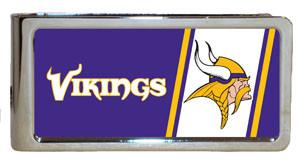 Personalized Money Clip - NFL Team Money Clips - Vikings - Professional Sports Gifts - AGiftPersonalized
