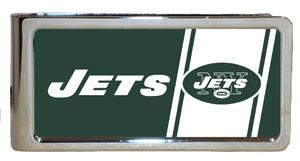 Personalized Money Clip - NFL Team Money Clips - Jets - Professional Sports Gifts - AGiftPersonalized