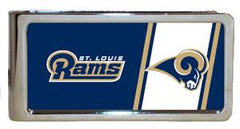 Personalized Money Clip - NFL Team Money Clips - Rams - Professional Sports Gifts - AGiftPersonalized
