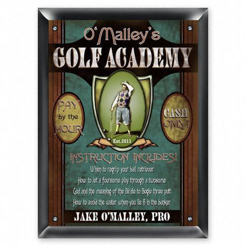 Personalized Signs - Golf Academy - Executive Gifts -
