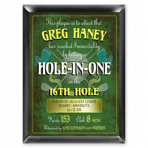 Personalized Plaques - Hole in One - Golf - Gifts for Dad