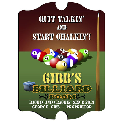 Personalized Vintage Series Sign - Billiards -  - Man Cave Gifts - AGiftPersonalized
