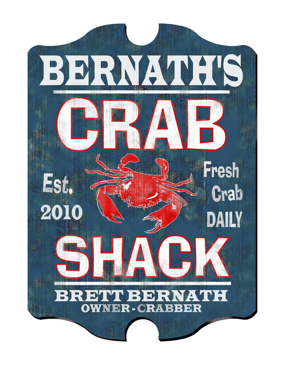 Personalized Vintage Series Pub Sign - CrabShack - JDS