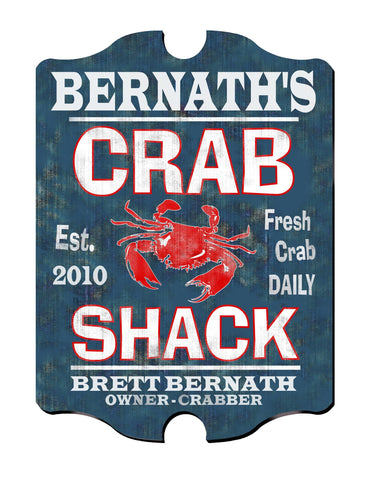 Personalized Vintage Series Sign - CrabShack - Man Cave Gifts - AGiftPersonalized