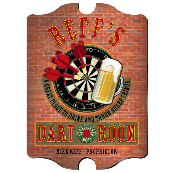 Personalized Vintage Series Pub Sign - Darts - JDS