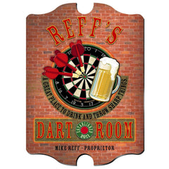 Personalized Vintage Series Sign - Darts - Man Cave Gifts - AGiftPersonalized