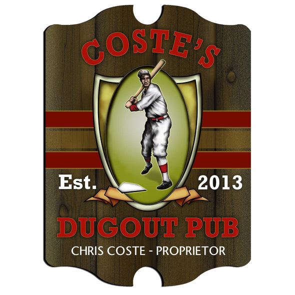 Personalized Vintage Series Pub Sign - Dugout - JDS