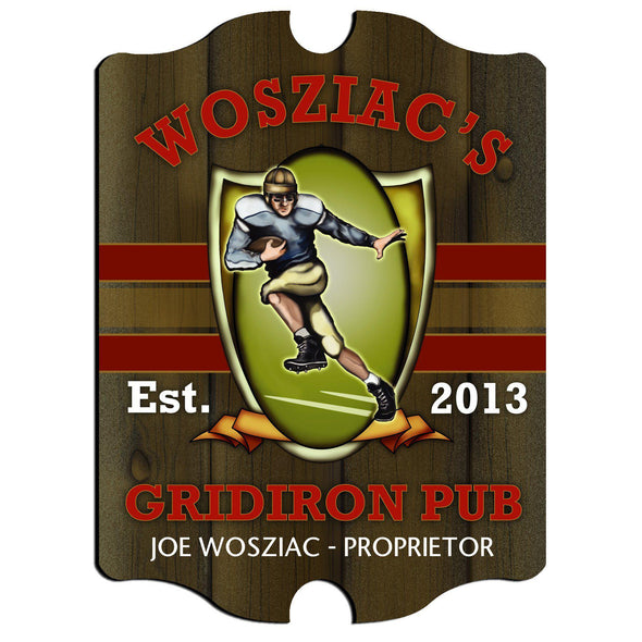 Personalized Vintage Series Pub Sign - Gridiron