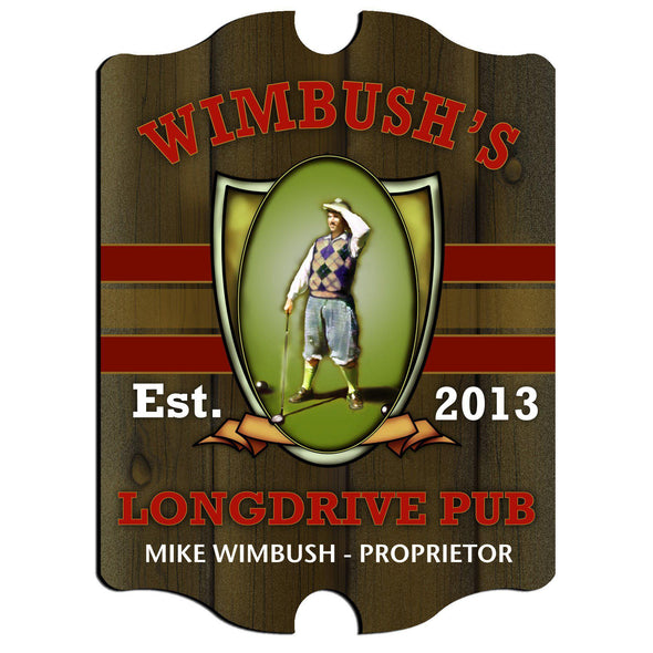 Personalized Vintage Series Pub Sign - Longdrive - JDS
