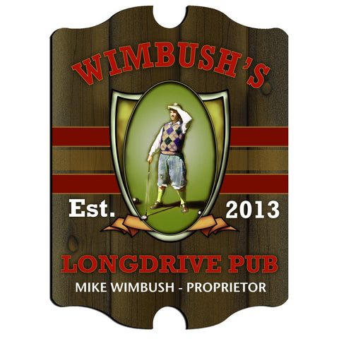 Personalized Vintage Series Sign - Longdrive - Man Cave Gifts - AGiftPersonalized
