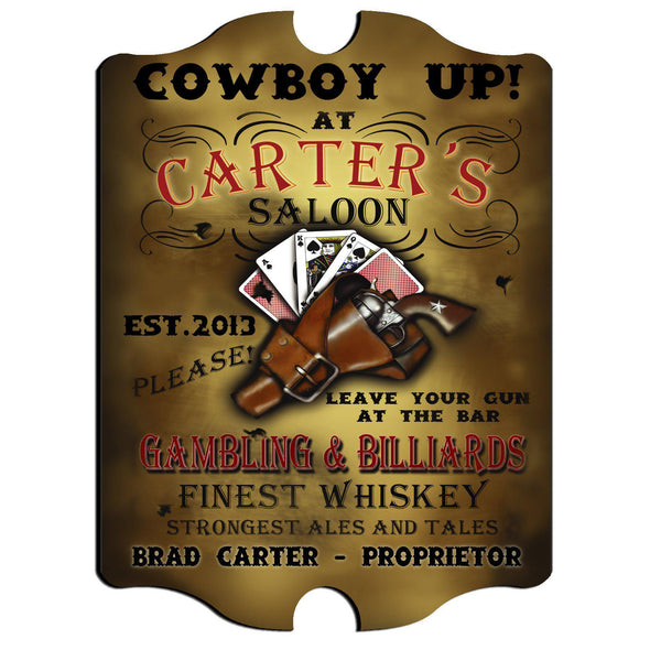 Personalized Vintage Series Pub Sign - Saloon - JDS