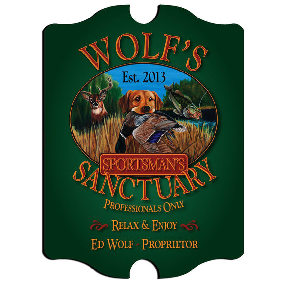 Personalized Vintage Series Pub Sign - Sportsman - JDS