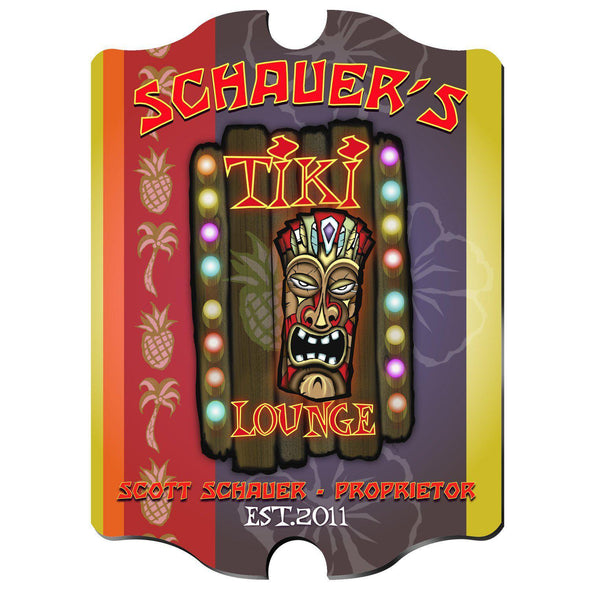 Personalized Vintage Series Pub Sign - Tiki