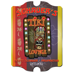 Personalized Vintage Series Sign - Tiki - Man Cave Gifts - AGiftPersonalized