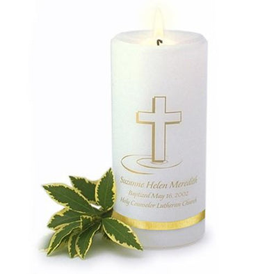 Personalized Baptismal Candle -  - JDS
