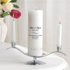 Personalized Premier Wedding Unity Candle w/Stand - CP8SongOfSongs