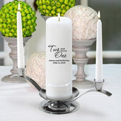 Personalized Premier Wedding Unity Candle w/Stand - F21TwoShallBecomeOne - Candles - AGiftPersonalized